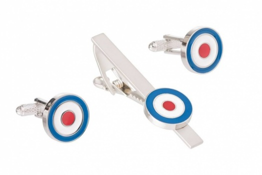 RAF Roundel Cufflinks and Tie Clip Set